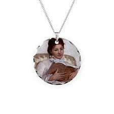 Mary Cassatt Necklace Circle Charm