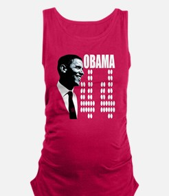 Vote for Barack Obama - Four mo Maternity Tank Top