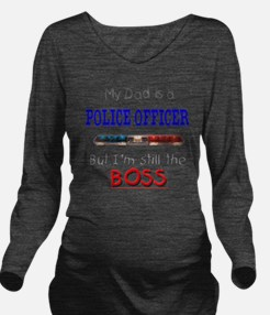 DadIsAPoliceOfficer Long Sleeve Maternity T-Shirt