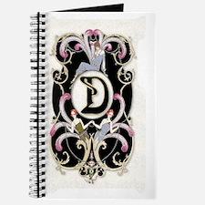 Art Deco Sexy Lady A  Monogram Journal