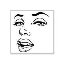 "Marilyn Square Sticker 3"" x 3"""