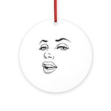 Marilyn Round Ornament