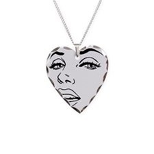Marilyn Necklace Heart Charm
