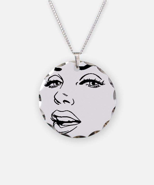 Marilyn Necklace Circle Charm