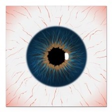 "eye_texture_2_flattened- Square Car Magnet 3"" x 3"""