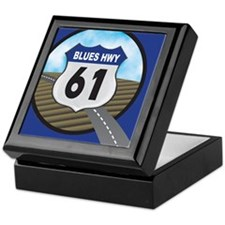 Blues Hwy Postcard Keepsake Box