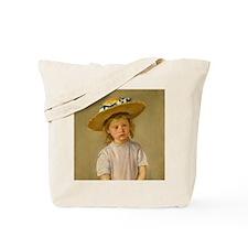 Mary Cassatt Child In Straw Hat Tote Bag