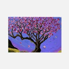 Wind Blows The Plum Blossoms Rectangle Magnet