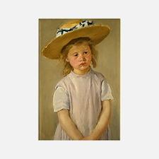 Mary Cassatt Child In Straw Hat Rectangle Magnet