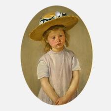 Mary Cassatt Child In Straw Hat Oval Ornament