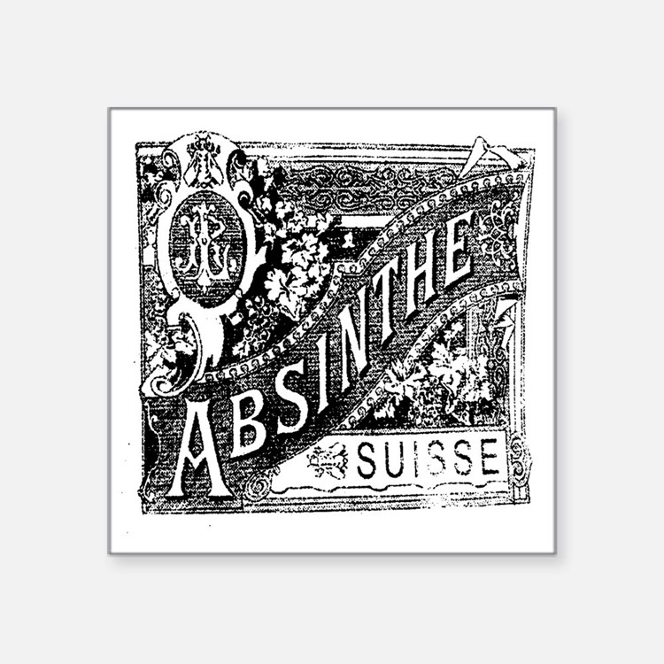 "Absinthe Square Sticker 3"" x 3"""