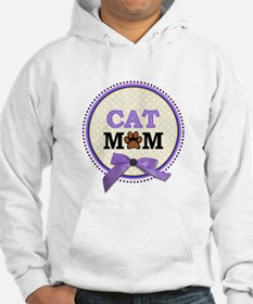 Cat Mom with faux ribbon Hoodie