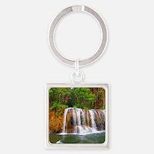 Saiyok Falls - River Kwai - Kancha Square Keychain