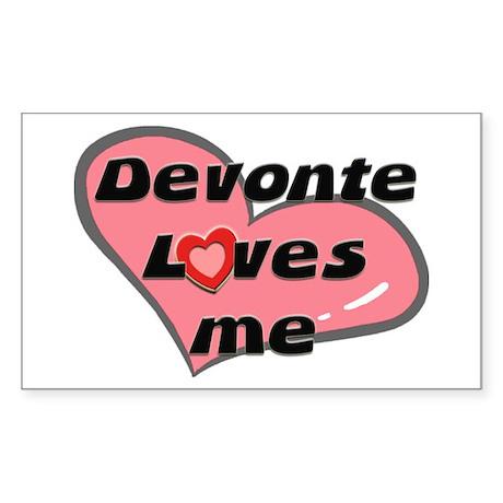 devonte loves me Rectangle Sticker