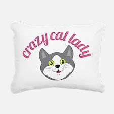 crazy cat lady Rectangular Canvas Pillow