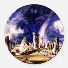 John Constable Stonehenge Round Car Magnet