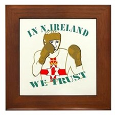 In N.Ireland boxing we trust Framed Tile