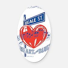 Beale Street Heart Postcard Oval Car Magnet