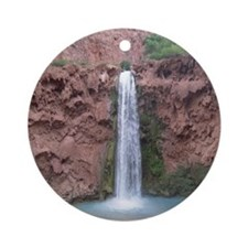 Mooney Falls - Havasupai Reservatio Round Ornament