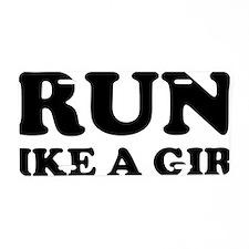 runGirlLike1A Aluminum License Plate