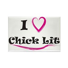 I Love Chick Lit Rectangle Magnet