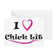 I Love Chick Lit Greeting Card