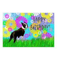 Birthday Boston Terrier Postcards (Package of 8)