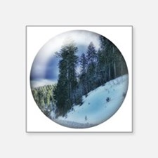 "mountain snow Square Sticker 3"" x 3"""