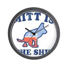 Mitts the Shit Wall Clock