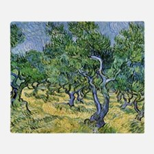 Van Gogh Olive Grove Throw Blanket