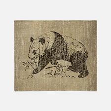 Vintage Panda Throw Blanket