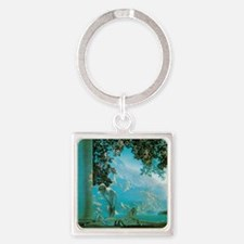 Maxfield Parrish Daybreak Square Keychain