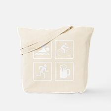 TriathleteBeerDrink1B Tote Bag