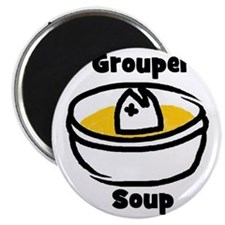 GrouperSoupCartoonBowl Magnet
