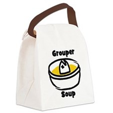 GrouperSoupCartoonBowl Canvas Lunch Bag