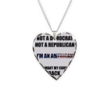 Im an American Necklace Heart Charm