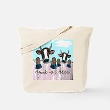 Peek A Moo Funny Cows Tote Bag