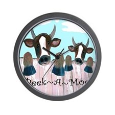Peek A Moo Funny Cows Wall Clock