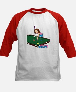 Girl Playing Billiards Tee