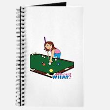 Girl Playing Billiards Journal