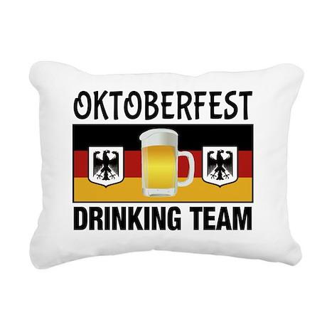 Oktoberfest Drinking Tea Rectangular Canvas Pillow