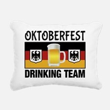 Oktoberfest Drinking Tea Rectangular Canvas Pillow