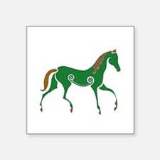 """Celtic Horse Square Sticker 3"""" x 3"""""""