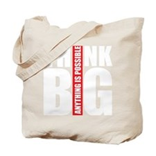 Think big white and red Tote Bag