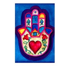 Heart Hamsa by Rossanna N Postcards (Package of 8)