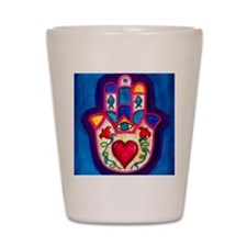 Heart Hamsa by Rossanna Nagli Shot Glass