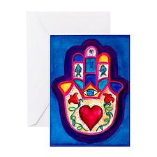 Heart Hamsa by Rossanna Nagli Greeting Card