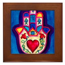 Heart Hamsa by Rossanna Nagli Framed Tile