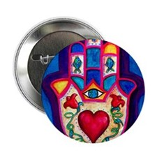 "Heart Hamsa by Rossanna Nagli 2.25"" Button"