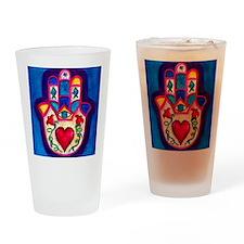 Heart Hamsa by Rossanna Nagli Drinking Glass
